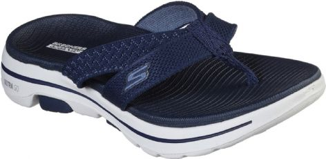 Skechers Womens 140085 NVY Navy Go Walk 5 Sun Kiss Slip On Toe Post
